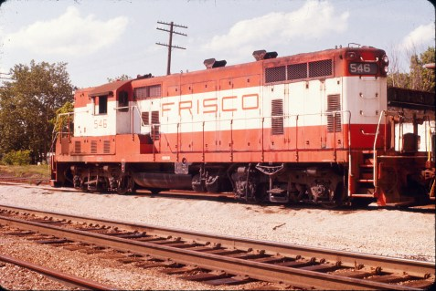 GP7 546 at Willow Springs, Missouri in June 1975