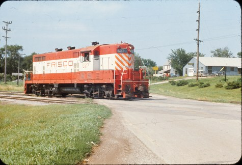 GP7 627 at Winfield, Kansas in June 1969