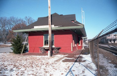 Mammoth Springs, Arkansas Depot on December 26, 1985 (R.R. Taylor)