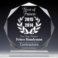 Best Business of Frisco TX Award - Contractors Category