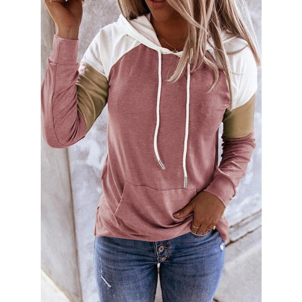 Women Hoodies Harajuku Casual Loose Long Sleeve Hooded 2020 Autumn Vintage Patchwork Sweatshirts Female Elegant Pullover Top 5XL 4