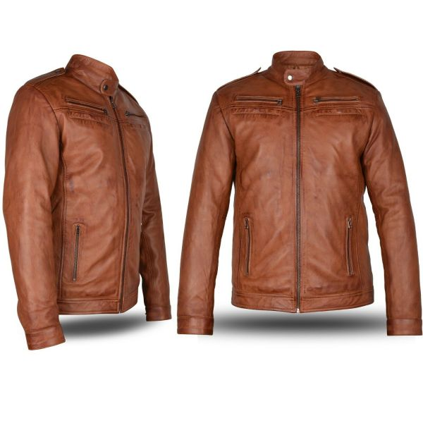 Men Jacket Original Leather Cowhide
