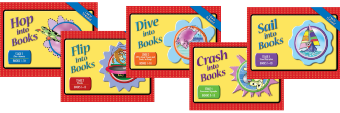 Decodable Phonics Readers - I Am In To Books Covers