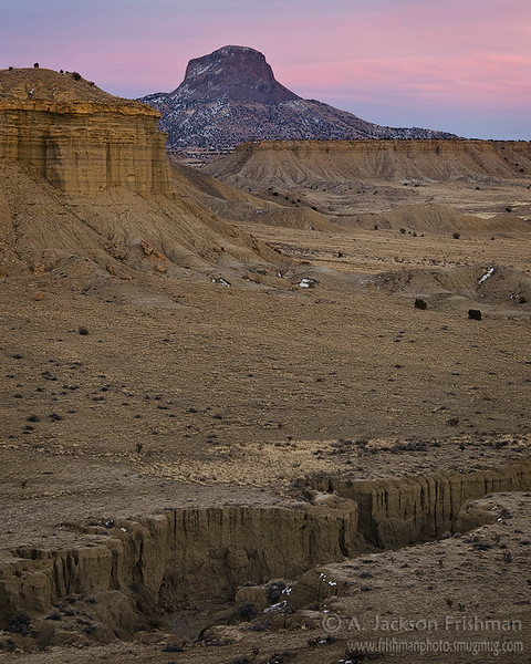 Sunset over Cabezon Peak, Rio Puerco Valley, New Mexico