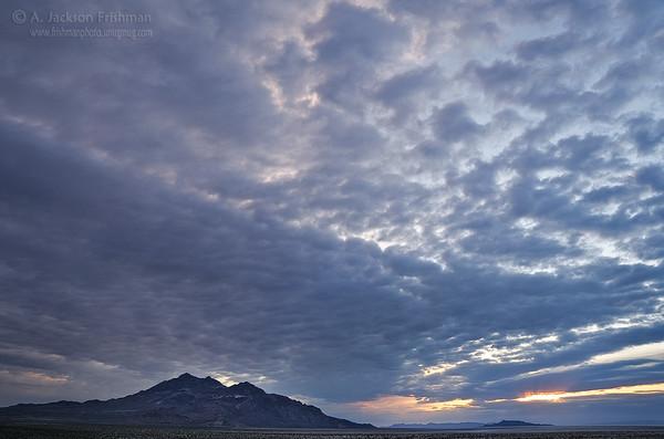 Cloudy sunrise over the Silver Island Range