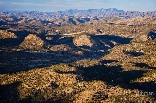 Looking over Hermosa Valley, from the Black Range over the Sierra Cuchillo to the San Mateos, New Mexico