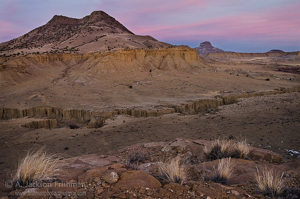 Sunset over Cerro Cuate and Cabezon Peak, Rio Puerco Valley, New Mexico
