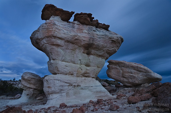 Hoodoos at night, Ojito Wilderness, New Mexico
