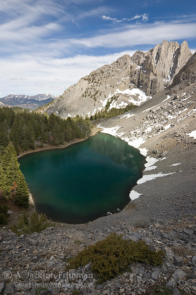 Bear Creek Lake in Idaho's Lost river Range, June 2010.