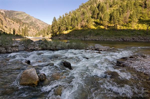 Sheep Creek enters the Salmon River, Gospel-Hump Wilderness, Idaho.