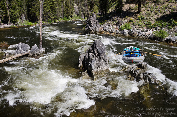 Whitewater on the upper section of Idaho's Middle Fork of the Salmon