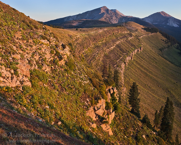 Sunrise on Trailriders Wall and the Truchas Peaks, in New Mexico's Pecos Wilderness