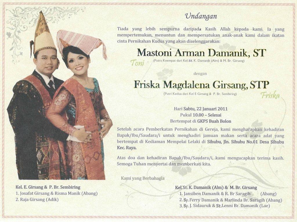 Pernikahan Batak Indah Bersamamu Disini