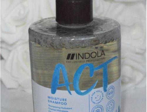 flacon pompe shampooing HYdratant gamme Act now de la marque Indola