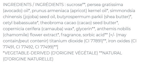 ingrédients lip scrub sugar lemon seraphine bonaticals
