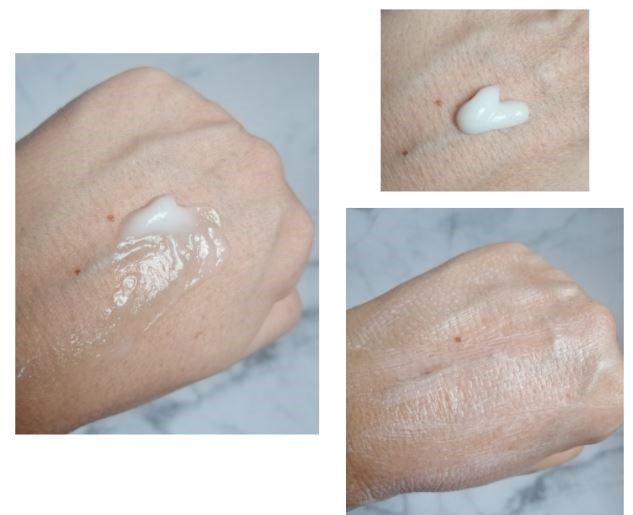 texture de la crème mains rubella au q10 et huile d'argan