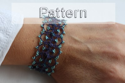 modele bracelet frivolité