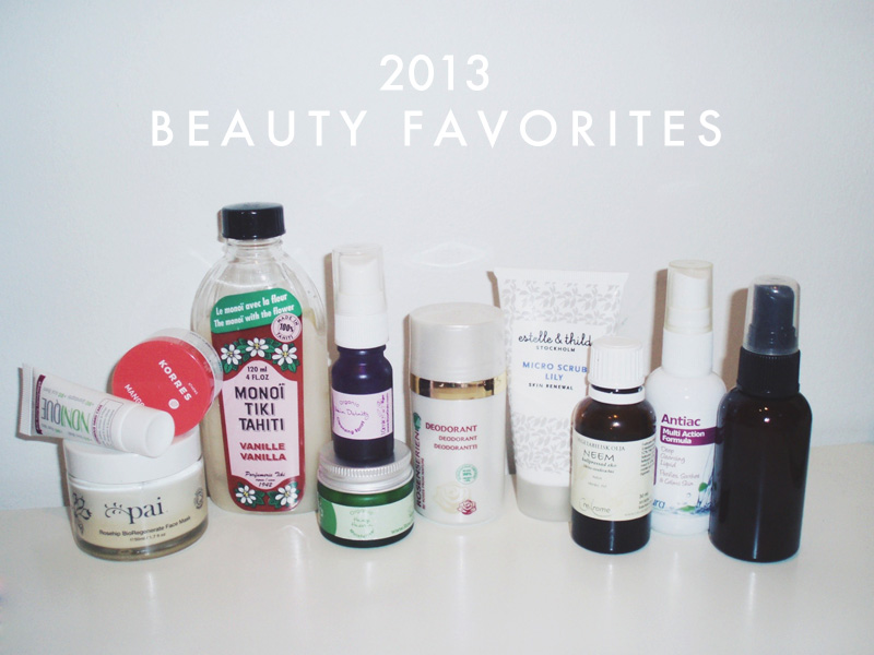 Beauty Favorites of 2013