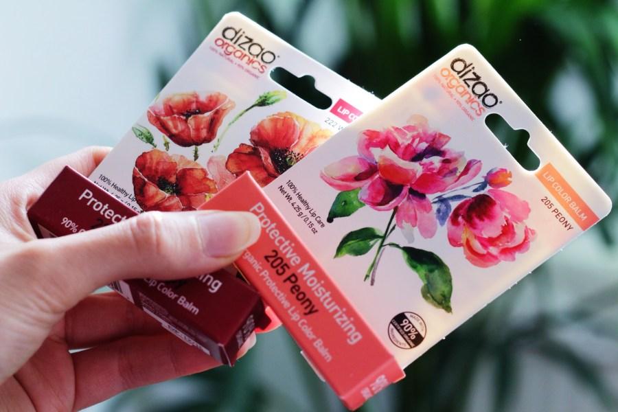 Dizao Organics Color Lip Balm Peony & Wild Poppy