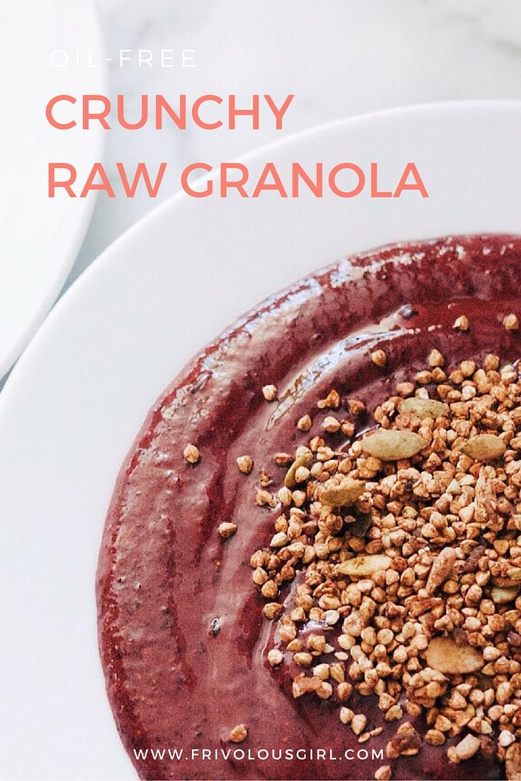Crunchy raw granola recipe