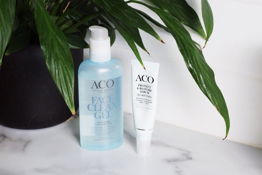 ACO Cleansing Gel and Anti Age 25+ Protect & Restore Q10 Serum
