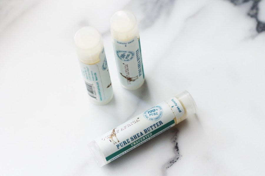 iHerb Haul Out of Africa Pure Shea Butter Lip Balm Unscented 3 Pack