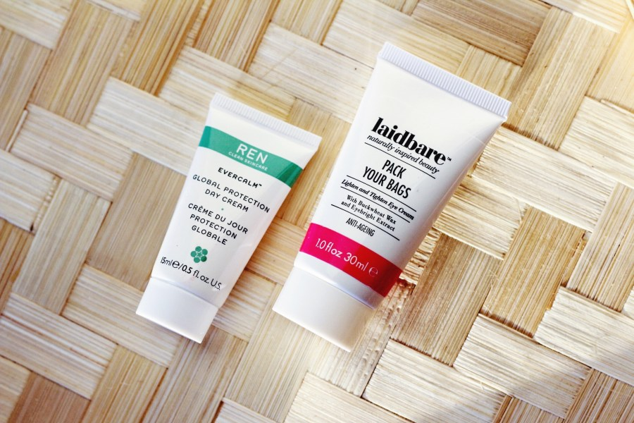 REN EverCalm Day Cream and Laidbare Pack Your Bags Eye Cream