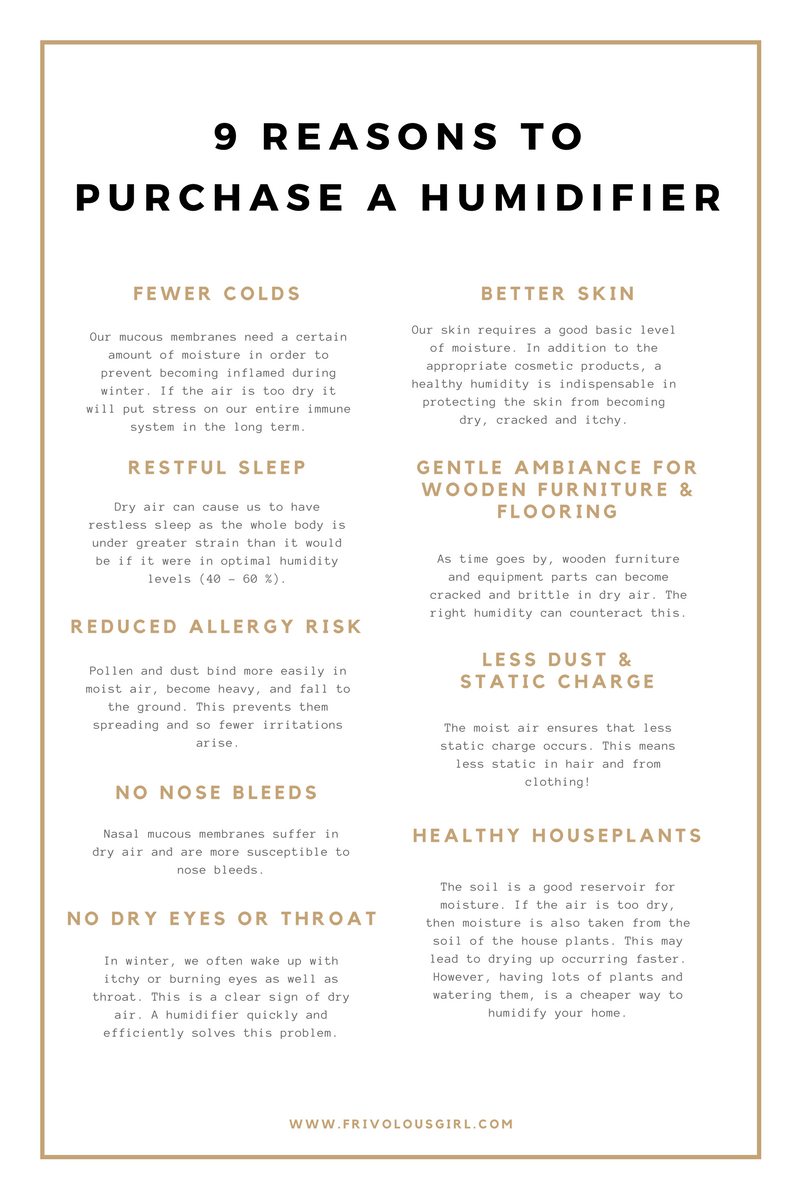 9 Reasons to Purchase A Humidifier