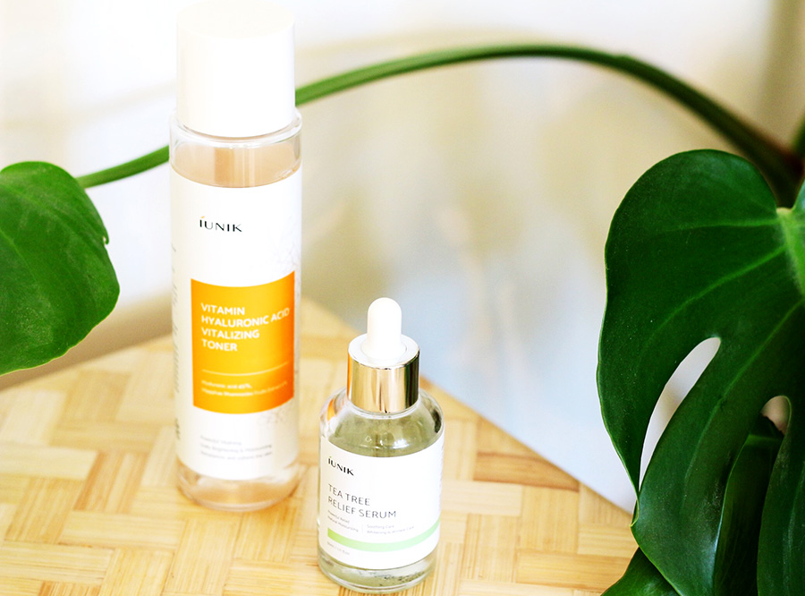iUnik Tea Tree Relief Serum and Hyaluronic Acid Vitalizing Toner