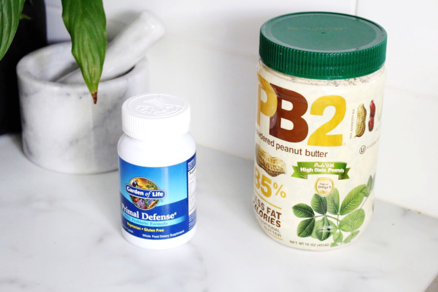 iherb PB2 and Garden of Life Primal Defence probiotics