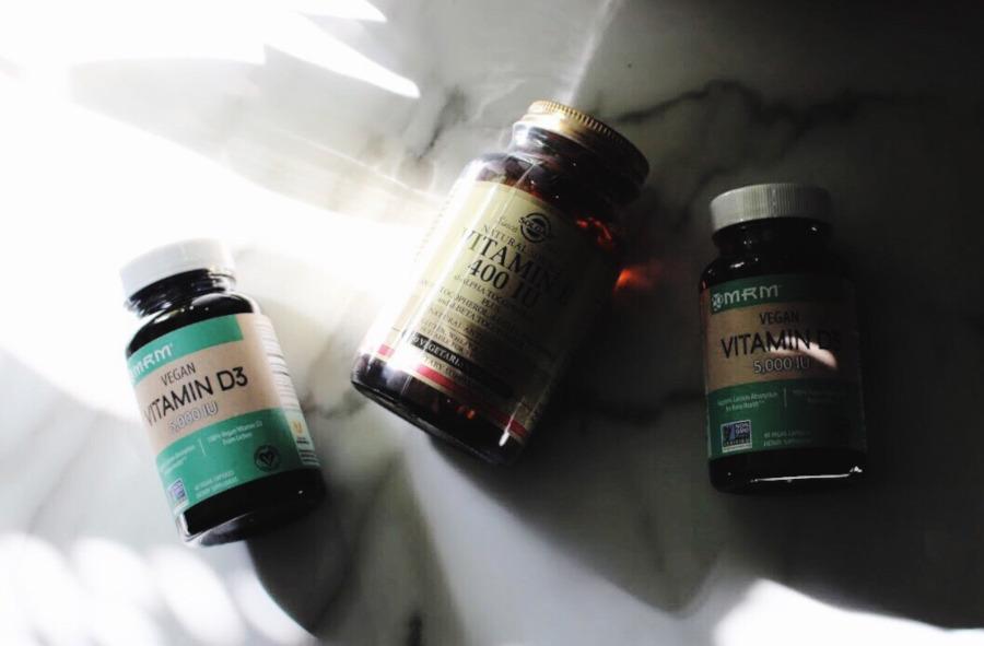 iherb haul solgar vitamin E and MRM vegan vitamin D3