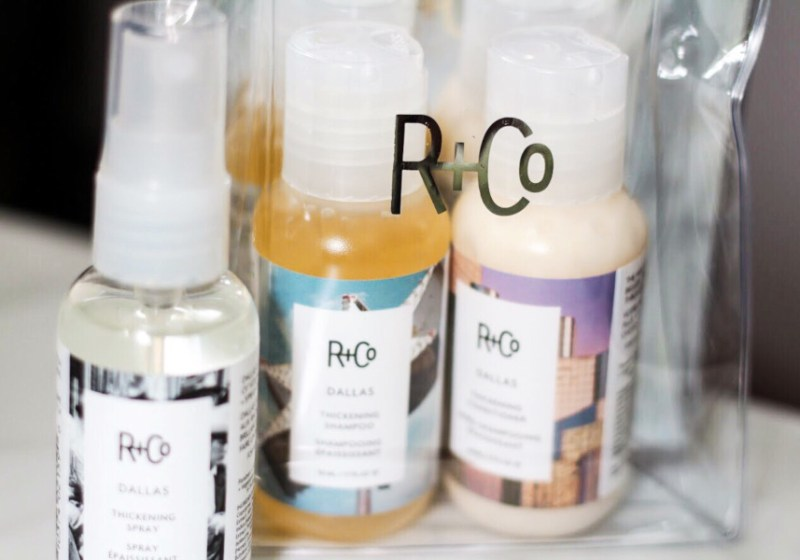 R+Co Dallas Thickening Shampoo and Conditioner and Dallas Hair Spray