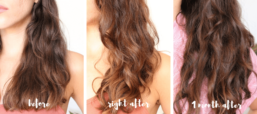 Maria Nila Color Refresh Bright Copper before and after