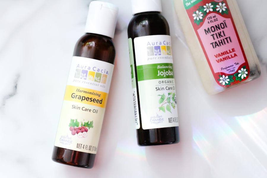 iHerb Aura Cacia Grape Seed Oil and Jojoba Oil, Monoi Tiki Tiare Body Oil