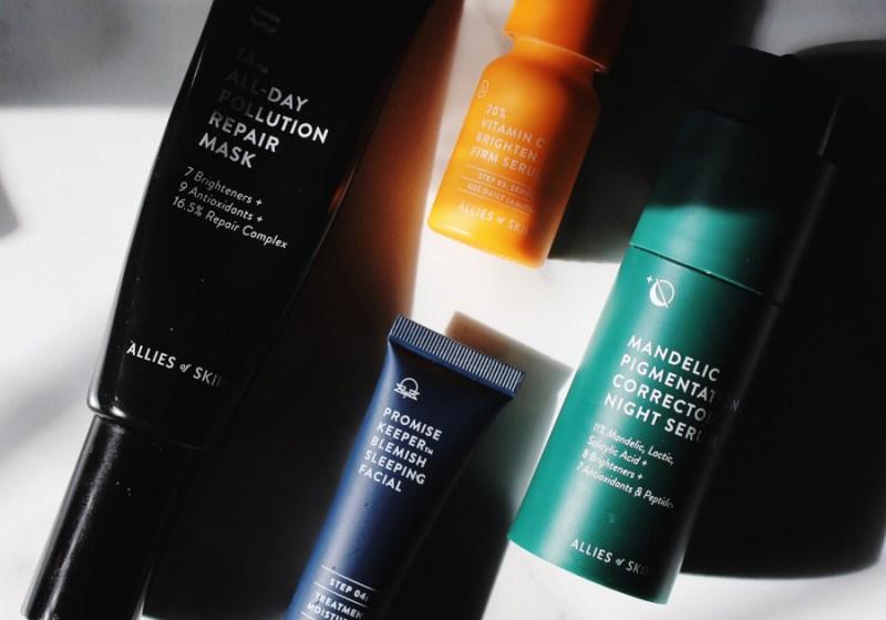 Allies of Skin review vitamin C, peptides, blemish and mandelic serum