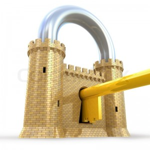 1447942 254700 security concept padlock as fortress isolated on white 300x300 - The Fortress Model of Security is Broken