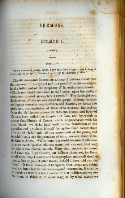 Ravenscroft sermon 1