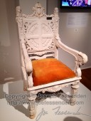 Chair used by John Paul II for Mass at the Superdome