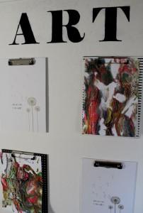clipboards, kunst, tegninger, artwall, diy