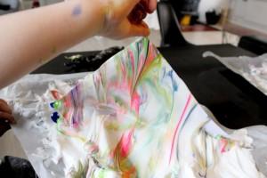 barbeskums-maling, diy, marmor-maling, shaving-cream-painting
