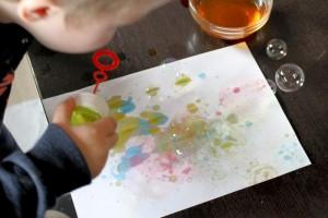 saebeboble-maling, bubble-blower-paint, frugtfarve, diy, saebebobler
