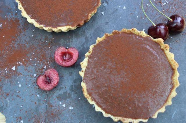 baileys, smaa-chokoladetaerter, baileys-ganache, saltkaramel, opskrift, søde-sager, kage, dessert, chokoladetærte, tærte