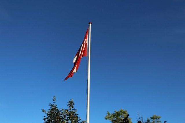 - Flaget var selvfølgelig til tops:-) -
