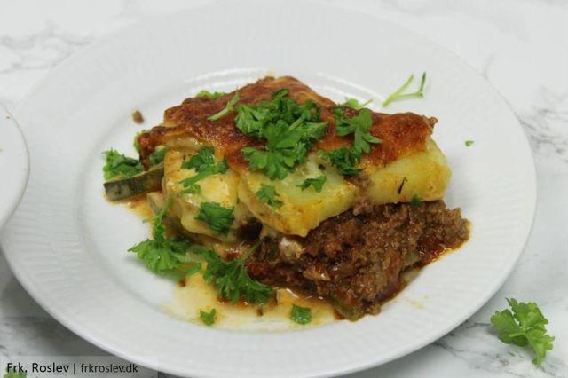 moussaka, graesk-moussaka, opskrift, aftensmad, hverdagsretter