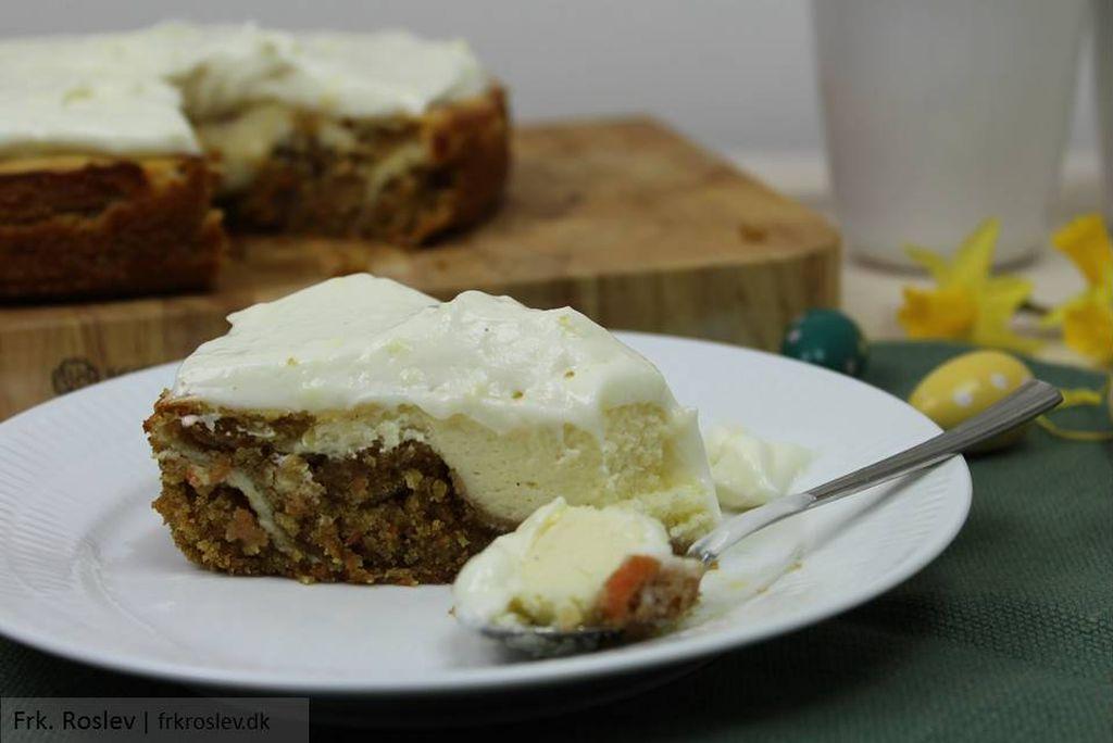 Gulerods-cheesecake-kage