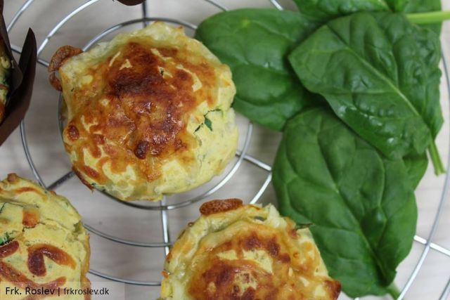 skinkemuffins, madmuffins, muffins-skinke-ost-spinat, opskrift, morgenmadsmuffins, snacks, madpakke