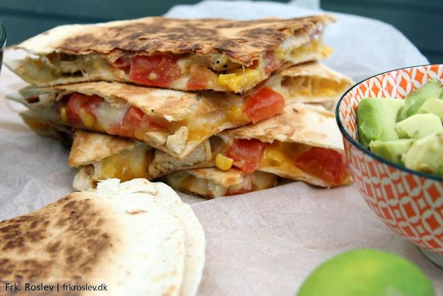 quesadillas, mexicansk-mad, boernevenlig-mad, tortillas, aftensmad-kylling