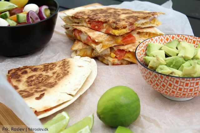 quesadillas, mexicansk-mad, boernevenlig-mad, tortillas, aftensmad-kylling