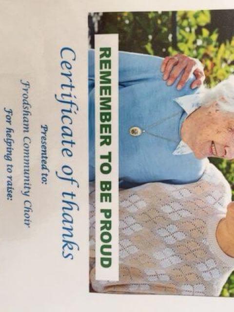Massive sum raised for Alzheimers…