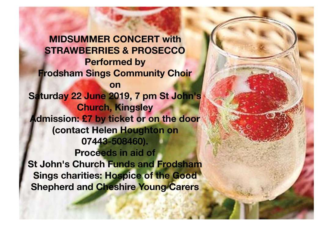 Prosecco and Strawberries with Song for Good Causes!! Join Us!